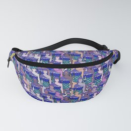 Pink Blue People Pattern Fanny Pack