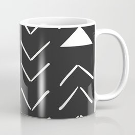 Mud Cloth Vector in Black and White Coffee Mug