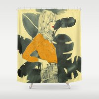 plants Shower Curtains featuring Plants by Magdalena Pankiewicz
