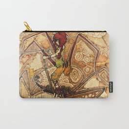 Patched Carry-All Pouch