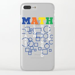 Math - Mistakes Allow Thinking To Happen T-shirt Mathematician Addition Subtraction Multiplication Clear iPhone Case