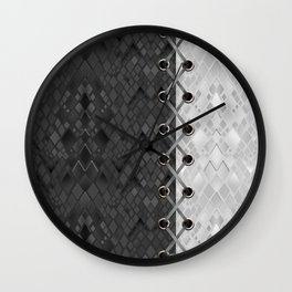 Lacing . 1 . Black and white snake. l Wall Clock