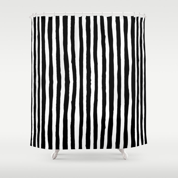 Black and White Vertical Stripes Shower Curtain by abigaillarson ...