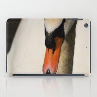 swan iPad Cases featuring Swan by Lorenzo Bini