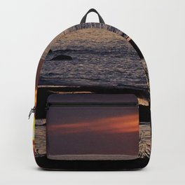 Surreal Seaside Sunset Backpack