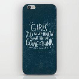 HOLDEN CAULFIELD ON GIRLS (AGAIN!) iPhone Skin