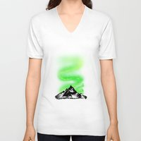 aurora V-neck T-shirts featuring Aurora by barmalisiRTB