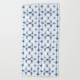 Shibori Diamonds Beach Towel