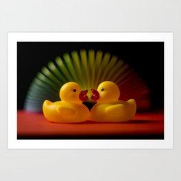 Rubber Duck Still Life II Art Print