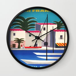 Vintage poster - French Riviera Wall Clock