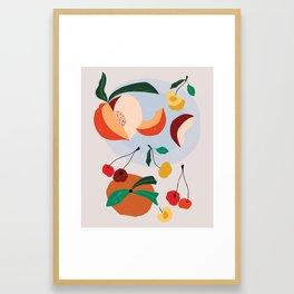 Peaches & Cherries Framed Art Print