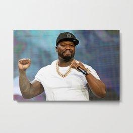 50 Cent, rapper, singer song, poster Metal Print