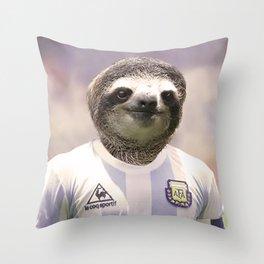 Football Sloth Throw Pillow