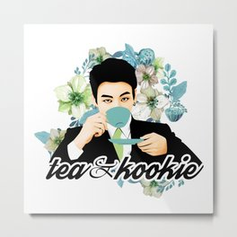 Tea & Kookie Metal Print