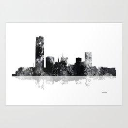 Oklahoma City, Oklahoma skyline Art Print