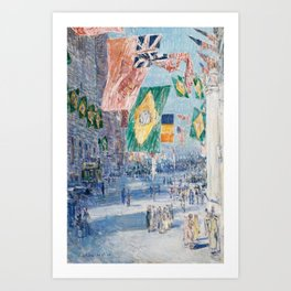 Avenue of the Allies by Childe Hassam, 1918 Art Print