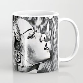 The Bride in Pen and Ink Coffee Mug