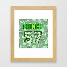 Green team Framed Art Print