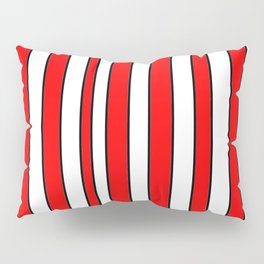 Strips 10-line,band,striped,zebra,tira,linea,rayas,rasguno,rayado. Pillow Sham