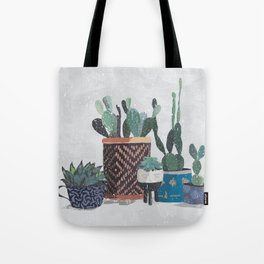 Cactus and succulents garden Tote Bag