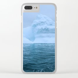 Visions of Blue II Clear iPhone Case