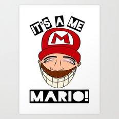 Psycho Mario Art Print