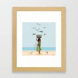 Fish Seler Framed Art Print
