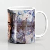 christopher walken Mugs featuring Christopher Walken Terminator by Jay Gidwitz