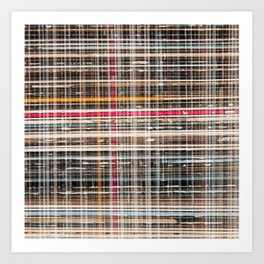 structure with red lines Art Print