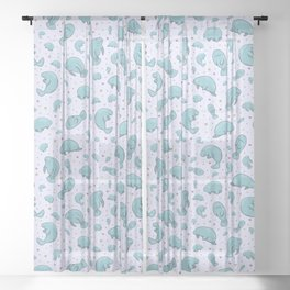 Manatees Sheer Curtain