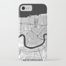 New Orleans Map Gray Slim Case iPhone 7