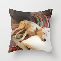 lincoln Throw Pillows featuring Lincoln by asparke