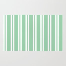 Mint Green Wide Small Wide Stripes Rug