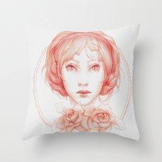 Simple Portrait Throw Pillow