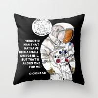 nasa Throw Pillows featuring NASA Astronaut - Cristina Curto by Cristina Curto