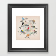 Hats On Framed Art Print