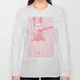 ukulele player Long Sleeve T-shirt