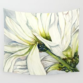 White Daisies Wall Tapestry