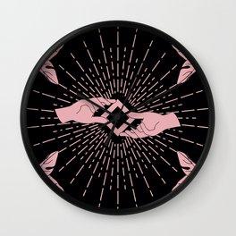 Magnificat black Wall Clock