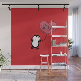 UR OK Penguin in love Wall Mural