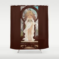 aries Shower Curtains featuring Aries by Sprat