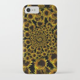 Sunflower descent into madness iPhone Case
