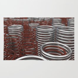 Glass and metal springs and coils Rug