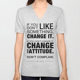 Angelou Attitude Unisex V-Neck