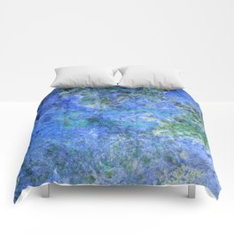 Moment of Epiphany: Royal Blue Version Comforters