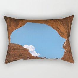 Climbing The Arch Rectangular Pillow