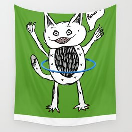 Monster Hula Hoop Wall Tapestry