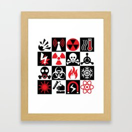 Hazard Danger Icons Framed Art Print
