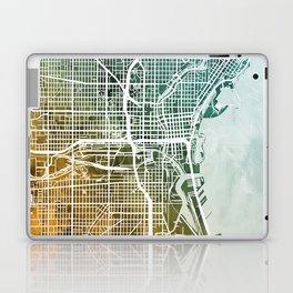 Milwaukee Wisconsin City Map Laptop & iPad Skin