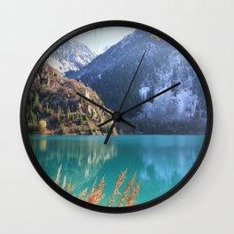 Issyk Lake in autumn, Kazakhstan Wall Clock